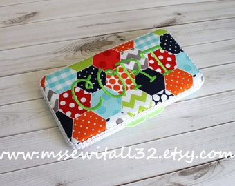Custom Hexi Print Travel Diaper Wipes Case
