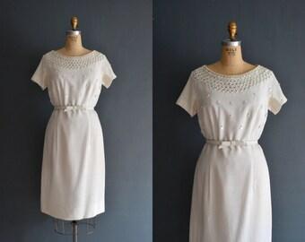 Bianca / 50s bead dress / short wedding dress