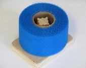 DIY Dish Scrubbies - Turquoise Nylon Net 40 Yards Long Spool - 2 Inch Strip