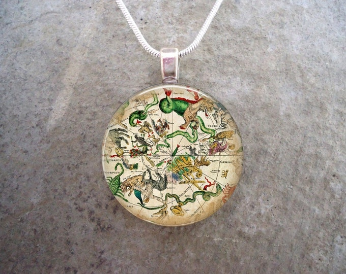 Map Jewelry - Glass Pendant Necklace - Map 24 - RETIRING 2017