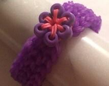 Rubber band flower braclet