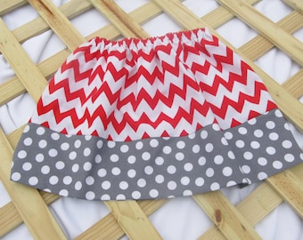 Back to School Skirt - Little Girl's Chevron Skirt - Modest Simple Skirt - Childrens fashion - Girl Boutique Skirts - Kids clothes - size 2t