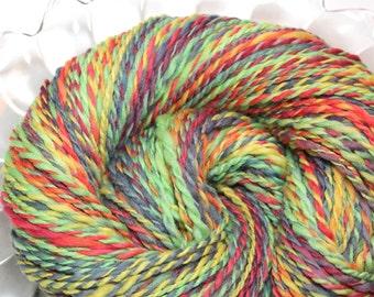 Handspun Yarn - Frogger - Falkland wool, worsted weight, 220 yards.