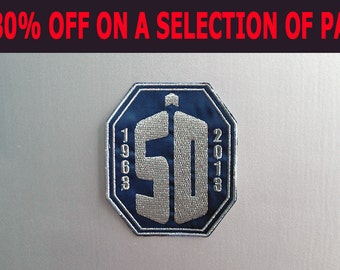 SALE -30% OFF - Inspired Doctor Who, 50 years Celebration Patch