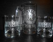 Custom Etched University Glasswear