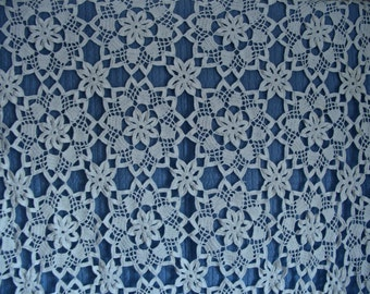 Hand Crochet Cotton Lace Tablecloth 68in x 96 in