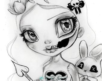 Fantasy ZOMBIE Girl Undead Lovers   Fine Art Print WESCOAT 8x10 12x16 13x19 16x20