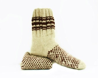 Men Wool Socks. Suitable for Diabetics. Rustic Socks Size XL.