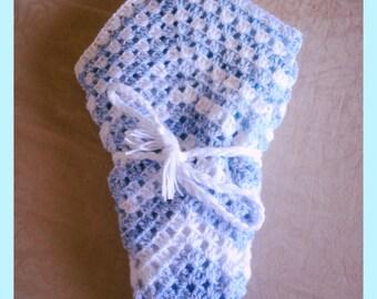 Mrs B's granny star baby blanket x