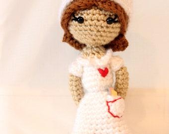 PATTERN Instant Download Judith the Nurse Crochet Doll Amigurumi