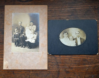 Antique Victorian pictures family black and white photographs family portraits