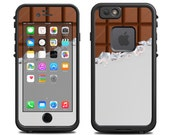 Skins FOR the Lifeproof iPhone 6 Case (Lifeproof Case NOT included) - Candy Bar with White Wrapper, Chocolate - Free Shipping