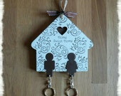 Home Sweet Home Couple Keyring Holder Plaque