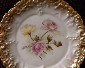 Dresden  Fine China  Rose Plate
