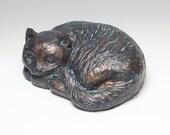Sleeping Cat (Bronzed Res...