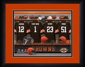 PERSONALIZED & FRAMED NFL Cleveland Browns Sports Print