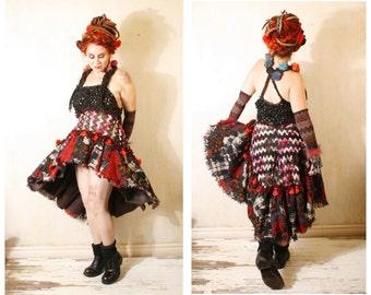 Maxi dress Black dress Long dress Woman dress Halter dress Gypsy dress Woman sundress Empire dress Festival dress Black red dress