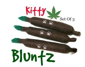 Cat Toys - Felt  Kitty Blunts - Set Of 3