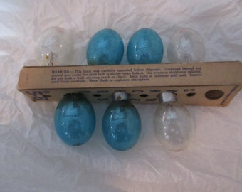 GE photo flash lamps, four blue bulbs and three clear. No. 5-b synchro-press