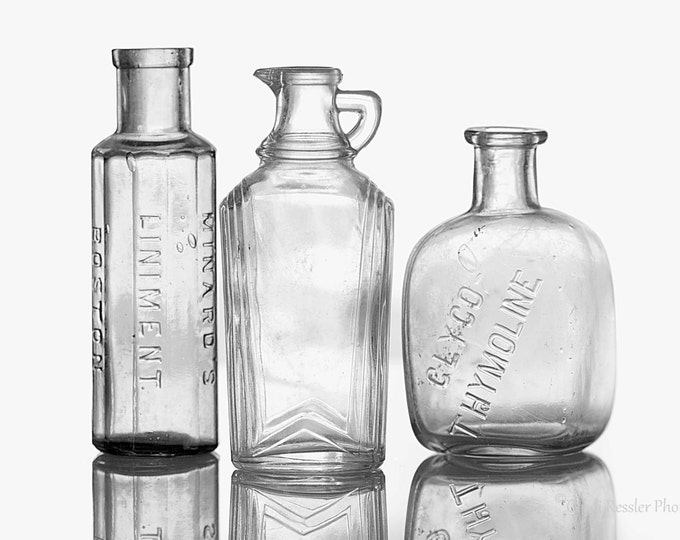 Bottles of Time, Photography, Black & White Photography, Vintage Photography, Still Life Photography