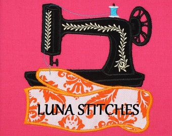Sewing Machine APPLIQUE Embroidery Designs 3 sizes for hoops INSTANT Download