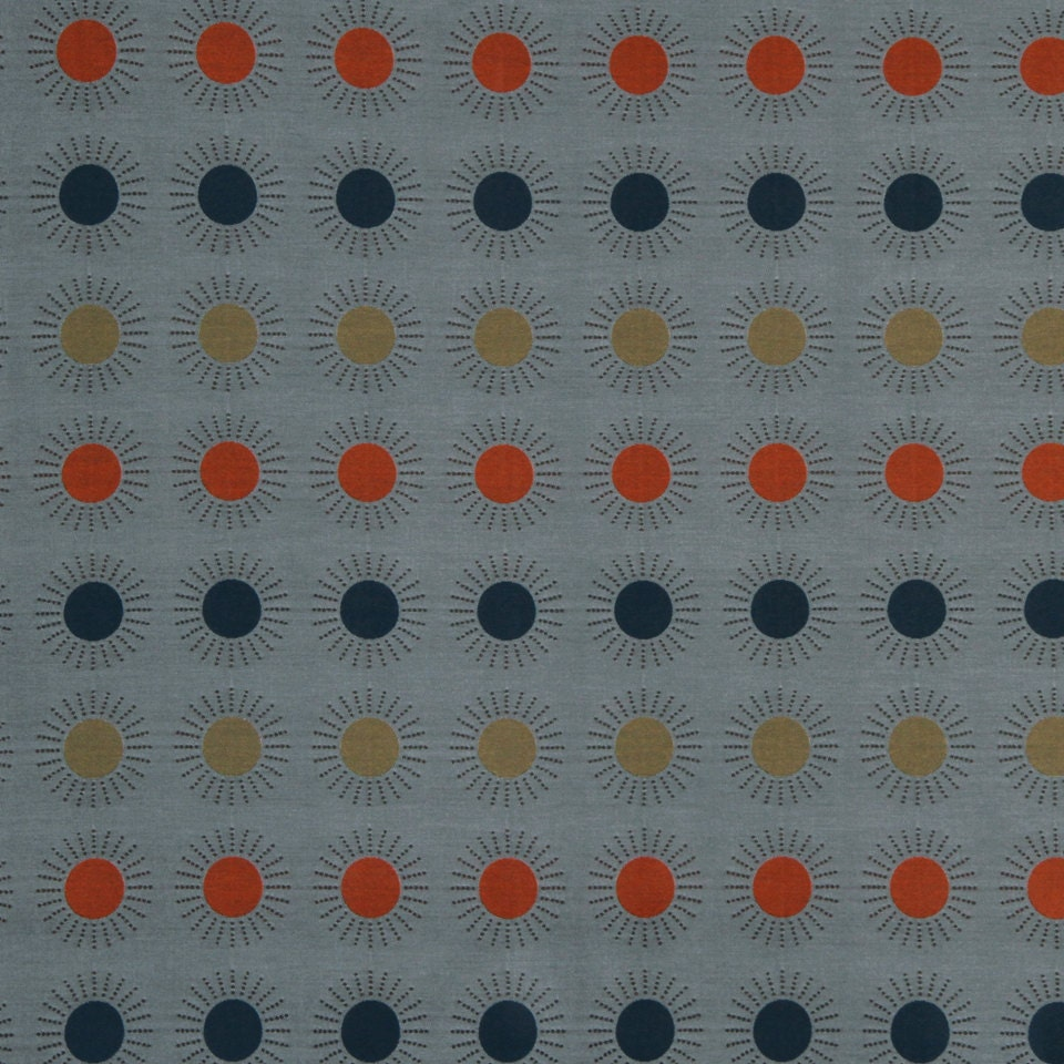 orange blue geometric upholstery fabric modern grey blue fabric with circles yellow grey. Black Bedroom Furniture Sets. Home Design Ideas