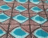 BY THE YARD Delightful blue white design African wax print fabric  - wax tye dye batik