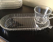 Crystal Snack Set by Anchor Hocking Set of 4