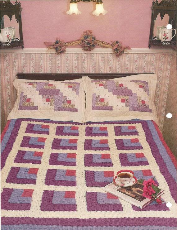Basketweave Log Cabin - Annie's Crochet Quilt & Afghan ...