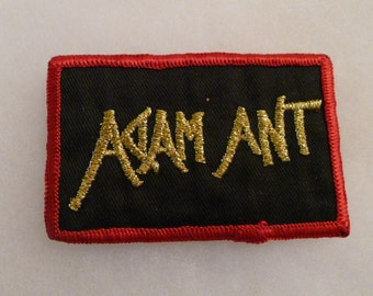 Deadstock ADAM ANT Patch Embroidered Jacket Live Promo Rare Post Punk New Wave Power Pop