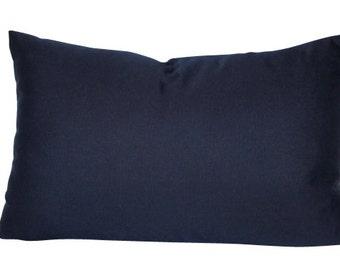 Navy Blue Outdoor Pillow Cover in Sunbrella Fabric