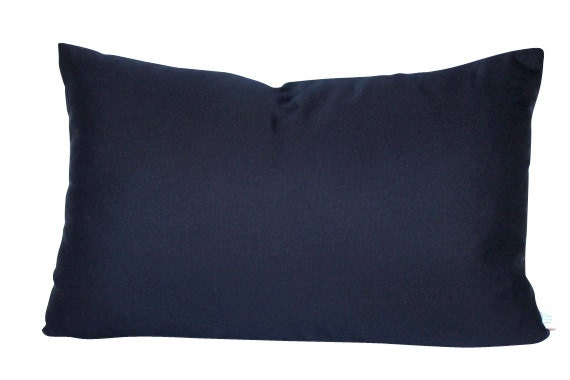 Navy Blue Outdoor Pillow Cover in Sunbrella by
