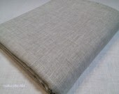 "100% Linen KING FLAT SHEET Natural Gray Color 108""x102"" (274x259 cm)"