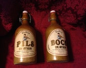 Fielders bock & pils im stein german beer decanter stoneware