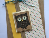 Owl Happy Birthday card
