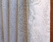 WINTER SALE ⋘ One Pair Window Treatments Curtains Drapery Panels 24W or 50W x 63, 84, 90, 96 or 108L Manchester French Grey White shown