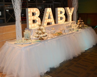 Custom Tutu Table Skirt, Candy Buffet Skirt, Centerpiece, Head Table Skirt