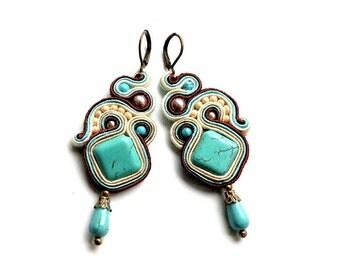Samoa - soutache earrings