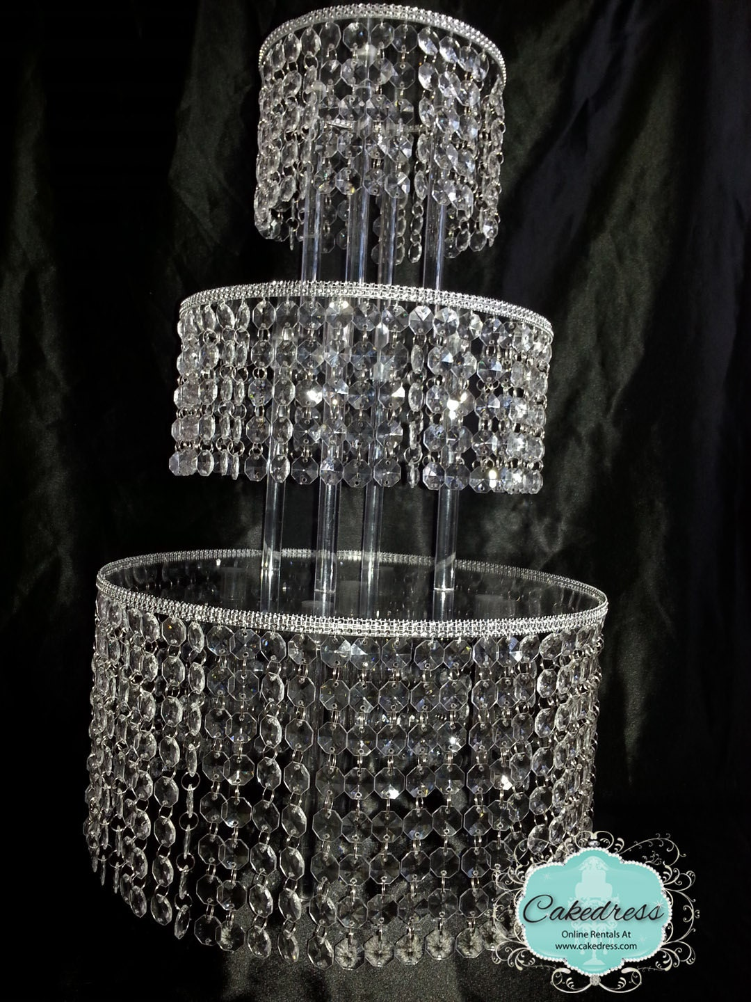 wedding cake stands with crystals wedding cake stand 5 tier by cakedress on etsy 25676