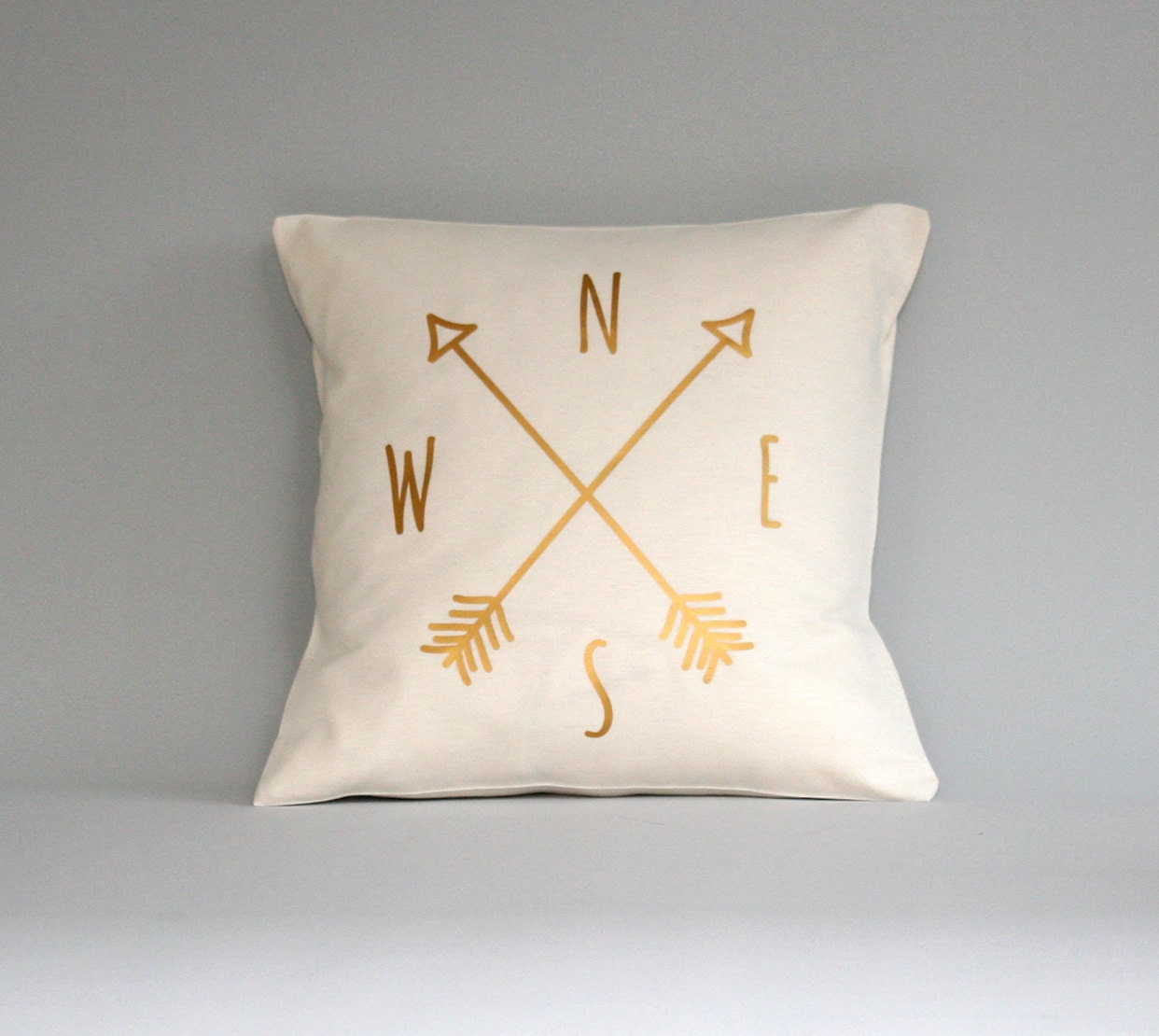 compass pillow cover gold pillow compass cushion throw pillow metallic gold pillows - Gold Decorative Pillows
