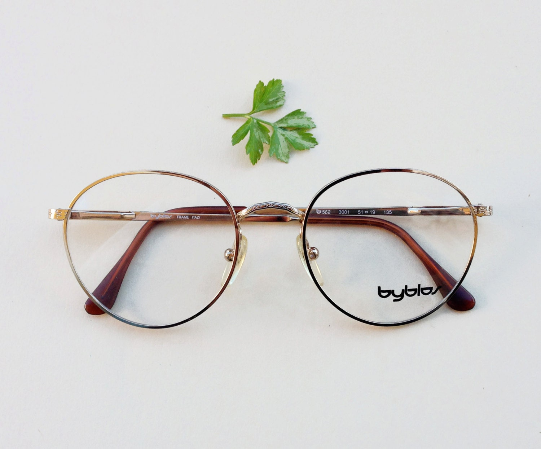 Byblos occhiali vintage anni 80 39 montatura da vista for Occhiali tondi da vista vintage