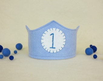 First Birthday Crown - Blue