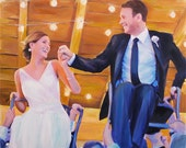 Wedding Present Custom Portrait Painting from Photo - Personalized Gift 20x24