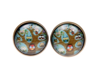 Cufflinks tree of owls (1616)