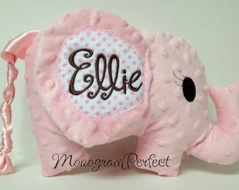 Personalized Floppy Ear Plush Stuffed Elephant Soft Toy, Pillow