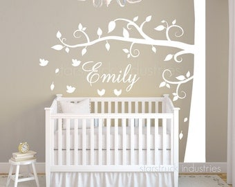 Swirly Tree Wall Decal - FREE SHIPPING - Perfect to Display Over Crib In Nursery for Baby Boy Girl - Nursery - Personalized Custom Decor