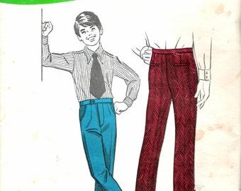 "Vintage 1971 Sew Knit N Stretch 339 Boy's Slacks Sewing Pattern Size 8-10-12 Waist 23 1/2"", 24 1/2"",25 1/4"" UNCUT"
