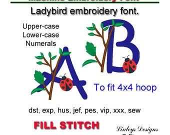 Download Ladybird, Ladybug alphabet picture font.