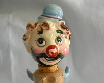 Hobo Clown Decanter | Ceramic | Vintage Circa 1960s