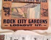 Antique Tennessee Souvenir Vintage ROCK CITY GARDENS Lookout Mountain Tennessee Miniature Views Postcards Postcard Collection Orig Condition